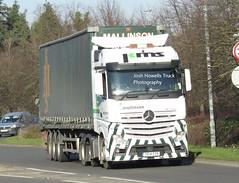 Ken Mallinson YE14 EZR at Welshpool (Joshhowells27) Tags: lorry truck mercedes mercedesbenz actros mercedesactros mercedesbenzactros curtainsider ye14ezr kenmallinson barnsley