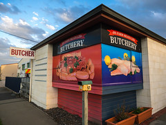 Omaru Butchery (RP Major) Tags: omaru new zealand nz south island butcher butchery store clouds