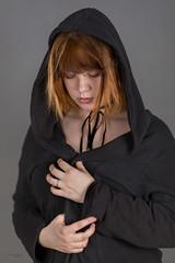 Michalina (piotr_szymanek) Tags: michanlina woman young face portrait studio hood hand redhead piercing nosepiercing eyebrowpiercing lipspiercing 1k