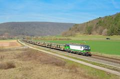 Ecco Rail 193 743, Harrbach (Sander Brands) Tags: trein treni train treno trenuri trenuro traktion vectron siemens strecke kbs800 spotten shuttle sun sky maintal maindal blg nikon d7000 bayern beieren deutschland