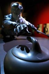 Bronze Curler (stevenbulman44) Tags: halloffame canon calgary sport statue curler black winter youquest 2470f28l