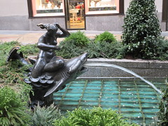 30 Rock - Rockefeller Plaza Center Fountain 9555 (Brechtbug) Tags: 30 rock rockefeller plaza center fountain with fish riders sculptures off 5th ave near 49th 50th streets entrance sea creature tentacles nyc 011019 new york city octopus arms wrapping around statue sculpture january 2019