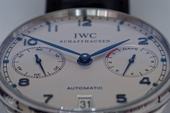 Precise Measurement. (alterahorn) Tags: macromondays redux2018 measurement iwc uhr watch clock hours days minutes seconds powerreserve internationalwatchcompany closeup probusscafusia olympus olympuspenf zuiko zuikomacro zuiko50mm zuiko50mmf35 dxo olympusautomacro