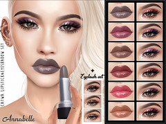 [LeLuck]Lipstick&Eyeshadow Set Annabelle (Sunkora) Tags: secondlife powderpack january 2019 catwa new leluck lipstick balm eyeshadow