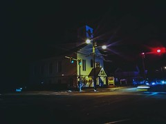 Intersection through nowhere (reallanthreee) Tags: night church intersection urban nocturnal