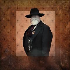 Sheriff Reed (WayneToTheMax) Tags: sheriff law old west had badge star fat barrel chest vest hat nikon d750 photoshop portrait beard mustache