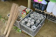 Moneyboxes for sell (Frühtau) Tags: country land burma burmese μυανμάρ 버마 buddhism ミャンマー main myanmar people stuff мјанмар shop local village sell good money box spardose leute