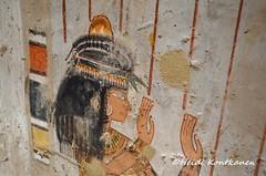 Henuttawy in TT69 (konde) Tags: 18thdynasty newkingdom tt69 menna stele stela tomb sheikhabdelqurna luxor thebes art ancientegypt hautamaalaus mythology tombpainting henuttawy
