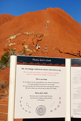 Uluru - Don't Climb The Rock! (Rob Harris Photography) Tags: australia outdoors outback country red redcentre desert remote wilderness wild sacred sacredplace dreamtime spirit anangu traditionalowners conservation education tourist tourism northernterritory colours sign