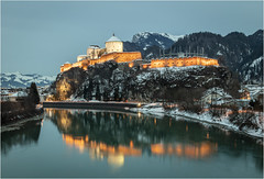 Kufstein Fortress . (:: Blende 22 ::) Tags: evening longexposure austria tyrol kufstein city fortress kufsteinfortress roof bluesky blue sky canon canoneosd canoneos5dmarkiv ef2470mmf28lusm blueribbonwinner 2019