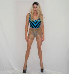 Body shaping pantyhose (queen.catch) Tags: bodyshaping body shaper pantyhose nylons bathing suit retro wig makeup legsfordays sissy heels platformstilettos leotard crossdresser drag genderplay