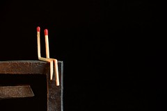 Zen love... (Raquel Borrrero) Tags: cerilla negro zen match matches black minimalism minimal minimalismo love wood madera