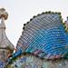 Techo de la Casa Batlló. Barcelona, España.