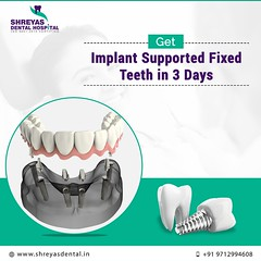 Get Implant Supported Fixed Teeth in 3 Days! (dentalimplantgujarat) Tags: dentalimplantsin3days dentalimplantsin72hours immediatedentalimplants ahmedabad