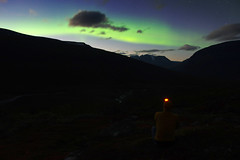2018 / Day 3 / Northern lights above Sarvesvágge valley (Northern Adventures) Tags: sarek sareknationalpark sápmi sapmi sweden sverige north deepnorth lapland lappi lappland autumn fall september hike hiking walk walking trek trekking track tracking wandering adventure outdoors journey trip exploration nature scenery scenic landscape tundra