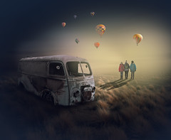 Missed the last flight (Malcolm Hare Photography and Tuition) Tags: old fantasy balloon family light