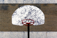 No Net... (Mister Day) Tags: basketball net hoop wall everyday object weathered bricks composition schoolyards