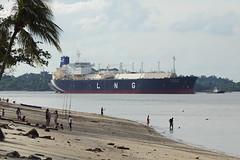 K. Freesia - Singapore (Neil Pulling) Tags: ship shipping sea singapore transport asia kfreesia lngtanker lng