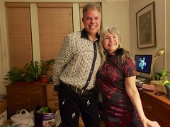 Peter & Carolyn At The New Year's Eve Party (Joe Shlabotnik) Tags: cameraphone december2018 peter carolynj galaxys9 2018