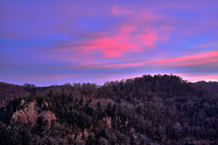 Treja Valley Dusk, Central Italy (Claudio_R_1973) Tags: dusk centralitaly cirrus cloud pastel romantic calcata valledeltreja viterbese tuscia lazio color nature outdoor hill