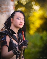 Asian Beauty (d heinz) Tags: trioplan100 chinagirl asianbeauty bokeh bow archer