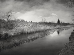 Cloudy day (wojciechpolewski) Tags: cloudyday cloudy darkclouds clouds wpolewski river water reflection blancoynegro blackandwhitenature blackandwhite bw bnw blackwhite blanconegro photo photos
