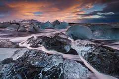 Sunrise at Jokulsarlon, Iceland (sven483) Tags: jokulsarlon jökulsárlón iceland ice beach vatnajokull hofn sunrise landscape