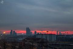 Winter sunset skyline. Milano (diegoavanzi) Tags: inverno winter skyline grattacieli skyscrapers milano milan italia italy lombardia lombardy canon eos7d tramonto sunset nuvole clouds cielo sky