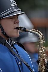 Saxophone (Scott 97006) Tags: performing parade instrument sax saxophone music band uniform marching bokeh reed