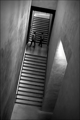 when we walk with the lord (bostankorkulugu) Tags: door fashion light steps stairs architecture women walk visitors dark tilted tilt museum italia italy lombardia lombardy milano milan armanisilos silos armani