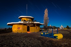Bedrock Post Office (2017) (Aztravelgrl (Forgotten Places Photography)) Tags: arizona bedrockcity flinstones usa williams forgottenplaces lightpainting longexposure lowlight nightphotography vintageroadsideattraction