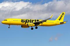 Spirit Airlines | Airbus A321-200 | N658NK | Las Vegas McCarran (Dennis HKG) Tags: aircraft airplane airport plane planespotting canon 7d 100400 lasvegas mccarran klas las spirit spiritairlines nks nk airbus a321 airbusa321 sharklets n658nk