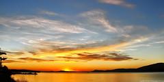 2019-03-21 Spring Equinox Sunset (2048x1024) (-jon) Tags: anacortes skagitcounty skagit washingtonstate washington salishsea fidalgoisland sanjuanislands pugetsound guemeschannel pnw pacificnorthwest northwest pacific ocean sky sunset sun water reflection cloud clouds spring equinox solstice red yellow a266122photographyproduction seascape landscape