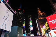 Feeling Like a Matchstick Man (Jocey K) Tags: sonydscrx100m6 triptocanadaandnewyork architecture buildings evening illumination billboards timessq nighttourhopandhopoffbus