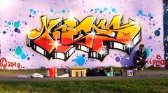One building, one idea! ( 715th picture of the same building ) Graffiti, Street Art - OLDENBURG (tusuwe.groeber) Tags: lovelycity graffiti germany lowersaxony oldenburg streetart niedersachsen farbig farben favorit colourful colour sony sonyphotographing nex7 bunt red rot blue blau sport sportsclub jujutsu jujitsu bloherfelde tusbloherfelde art gebäude building sporthalle sportshall projekt project