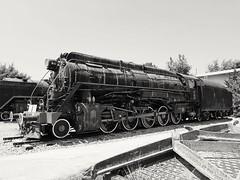 Old locomotive in black and white (zenziyan) Tags: locomotive train steam retro rail engine drg deutsche reichsbahn loco