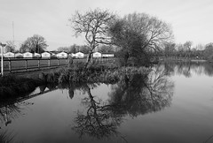 Fading Memories (JamieHaugh) Tags: clevedon somerset england uk gb britain outdoors sony alpha ilce7rm2 zeiss a7rii blackandwhite blackwhite black white bw monochrome reflections nature trees water sky grass landscape mirror ripples time lake warrens peace serene memory quiet