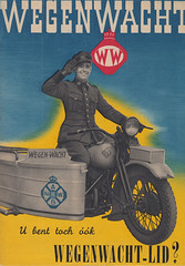 Wegenwacht-lid_oktober_1946 (Wouter Duijndam) Tags: oktober october 1946 anwb wegenwacht folder promotie kleuren jaren veertig 40 46 harleydavidson wla wlc hollandia zijspan beginjaren mooie
