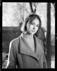 Настя (igorkondukov) Tags: портрет девушка пленка portrait people film filmphoto mamiyarz67 monochrome mediumformat mamyia