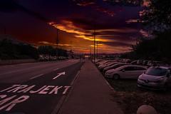 Sonneuntergang in Supetar (Sa Scha LC) Tags: brac kroatien sonnenuntergang strase urlaub urlaub2018 sunset sony cypershot orange leuchten adria adriaticsea