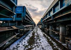 blue trains #2 (KRR_3) Tags: sony a6000 nex sel1650 winter snow train trains blue
