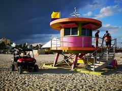 South Beach |  Life Guard Towers (Toni Kaarttinen) Tags: usa unitedstates florida wpb america miami miamidade southbeach artdeco architecture beach lifeguard tower lifeguardtower hut colorful