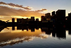 Reflections on the Yarrra River (The Pocket Rocket, On and Off.) Tags: sunset yarrariver melbourne victoria australia
