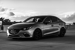 Garage Shots-10 (latinkidd98) Tags: mazda 3 mazda3 mazdaspeed3 ms3 mps3 mps sky sun view sunset clouds black white sony a6000 alpha sigma 30mm 50mm 14 18