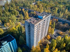 Pripyat Apartments (Brook-Ward) Tags: hdr brook ward pripyat ukraine chernobyl flat apartment building architecture travel vacation holiday aerial drone nuclear power plant soviet accident disaster radiation