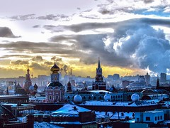 View of the city (Telais) Tags: city moscow russia redsquare street architecture winter sunset sky clouds город москва россия краснаяплощадь улица архитектура зима закат небо облака