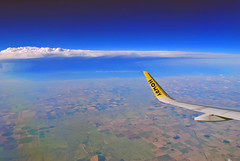 Spirit In The Sky (Infinity & Beyond Photography: Kev Cook) Tags: spirit airlines airbus a320 neo wing winglet sky clouds landscape window seat airplane plane view