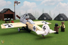 Lego Fokker Eindecker E.IV (Dread Pirate Wesley) Tags: lego moc fokker eindecker great war monoplane airplane plane aircraft fighter scout german