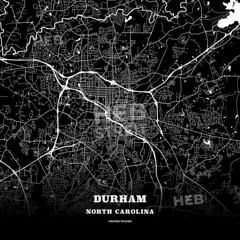 Black map poster template of Durham, North Carolina (Hebstreits) Tags: american architects area arge atlas background black cityplan clean design destination detail downtown durham easy geography high highways image interstate lakes landmarks macro map mono monochrome northcarolina openstreetmap outline outlines path pattern pdflicense poster quality region roads simple states streetmap symbol texture tourist traffic train transportation travel trip united urban us usa vacation vector white