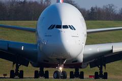 A6-EUN (hartlandmartin) Tags: a6eun emirates airbus a380800 bhx egbb birmingham elmdon taxi aircraft airline airport aeroplane jet flight aviation plane transport nikon d7200 70300afp
